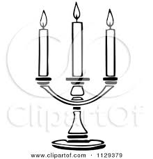 Small Picture Clipart Vintage Black And White Candlestick Royalty Free Vector