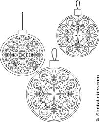 Small Picture Christmas Ornaments Coloring Pages at SantaLettercom