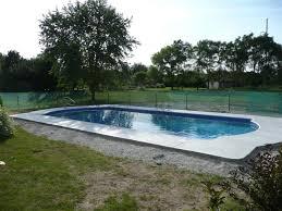 rectangular inground pool designs. Simple And Neat Home Exterior Decoration Using Inground Pool Decks : Cozy Image Of Backyard Landscaping Rectangular Designs I