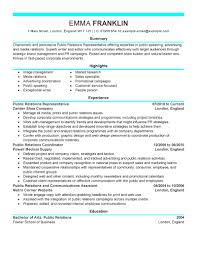 pr manager cv public relations resume samples marketing modern gallery of sample resume public relations