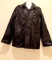wilsons m julian jacket men s black 100 leather on front size xl vintage
