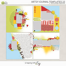Journal Templates Scrapping With Liz Artsy Journal Templates 23 And Must