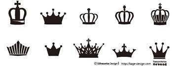 定番アイテムの王冠 シルエットデザイン