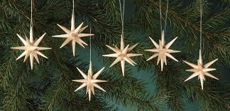 Christbaumschmuck Aus Holz Natur Weihnachtssterne 6 Teilig Von Albin Preißler
