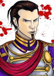 a sketchcard of logan the tyrannical ruler from fable iii alas the colours and shading are far more subtle yet more striking in reality my scanner