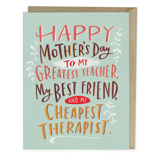 Cheapest Therapist Mothers Day Card Emily Mcdowell Studio