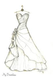 Wedding Dress Sketch Made From Your