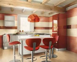 ... Foxy Kitchen Decoration Using Various Red Paint For Kitchen Ideas :  Astounding Modern Red Kitchen Decoration ...