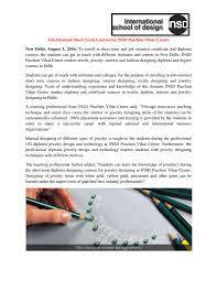 Short Term Jewellery Designing Courses In Delhi Job Oriented Short Term Courses By Insd Paschim Vihar Centre