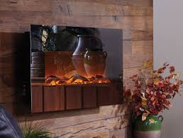 Mirror Onyx Wall Mounted Electric Fireplace