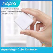 Bộ điều khiển khối rubik aqara, phiên bản zigbee được điều khiển bởi sáu  hành động app mi home cho ổ cắm thông minh thiết bị gia đình thông minh  xiaomi -