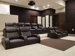 home theaters with stretched fabric