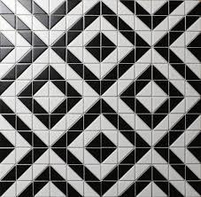 Black And White Flooring 2 Matte Black White Porcelain Triangle Tile Flooring For Sale
