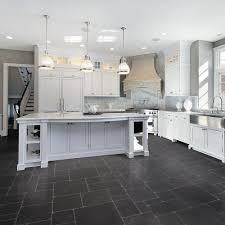 Vinyl Kitchen Flooring Options Impressive Kitchen Floor White On Black Picture For Patio