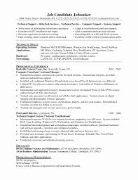 Resume Format For Technical Jobs Resume Format For Technical Support Fresh Tech Support Resume 25