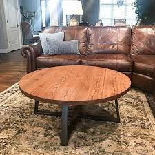 round coffee table rustic reclaimed