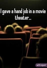 Hand job in movie theatre
