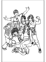 Small Picture High School Musical Coloring Book Image Gallery HCPR