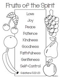 Fruits Of The Spirit Coloring Page By Frontdesk Studio Tpt