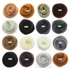 16 Base Colors Series Felting Wool Fibre <b>10g</b>/<b>20g</b>/<b>50g</b>/bag Flower ...
