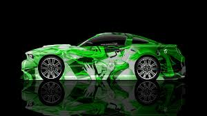 Ford Mustang Gt Muscle Side Anime Girl Aerography Car El Tony