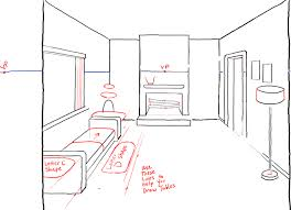 couch drawing side view. how to draw a room with perspective drawing tutorial of living couch side view