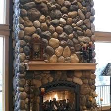 classicflame 28 faux river rock electric fireplace potomac stone veneer surround faux river rock fireplace surround stone fireplaces