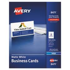 Avery 8870 Template Ave 8471 Avery Printable Microperf Business Cards Inkjet
