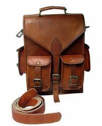 brown vintage leather backpack