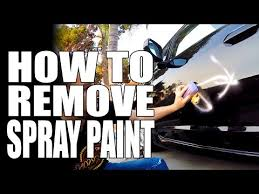 how to remove spray paint graffiti