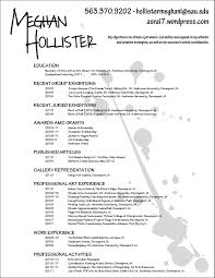 Resume For Artist New Artists Resumes Boatremyeaton Madiesolution