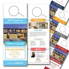 Door Hanger Design Template Amazing Real Estate Door Hangers
