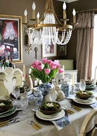 white table settings. Easter-table-view-from-kitchen-3 White Table Settings