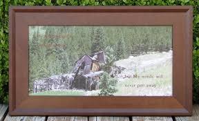 framed verse scripture wall art landscape photography