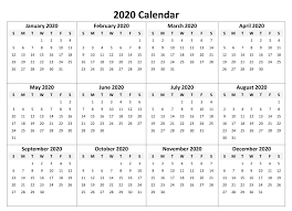 Printable Calendar 2020 With Notes 2019 Calendars For