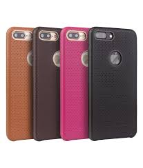 iphone 7 plus perforated leather back case