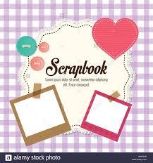 Art Design For Scrapbook Design Of Scrapbook Icons Vector Design Stock Vector Art