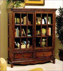 wooden bookcase with doors bookshelves glass brown features target appealing low bookcases door d