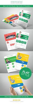 website design flat style flyer on behance design website design flat style flyer on behance