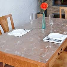 soft glass table cloth round table pvc transpa table cloth pad waterproof disposable dining table cloth