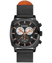 versus by versace men s riverdale black canvas strap watch 40mm versus by versace men s riverdale black canvas strap watch 40mm soi020015