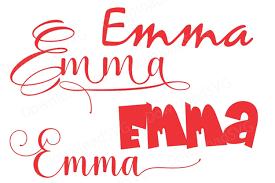125 svg vectors & graphics to download svg 125. Svg Png Cutting Files Template Girl Name Emma Vector 118053 Svgs Design Bundles