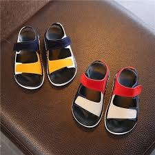 hot deal us 12 38 for 2019 summer new children s sandals for boys girls leather sandals kids beach shoes non slip soft bottom baby toddler shoes