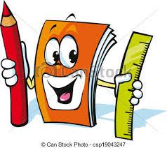 funny exercise book cartoon csp19043247
