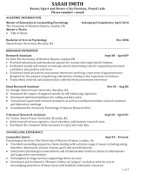 Curriculum Vitae Sample Graduate School Application Refrence Phd
