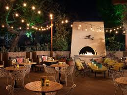 Outdoor terrace lighting Outside Dining The Front Yard The Front Yardfacebook Eater La Outdoor Dining Restaurants In Los Angeles Spring 2018