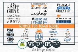 Summer Fun Designs Summer Fun Design Bundle Svg Cut Files Design Crafts