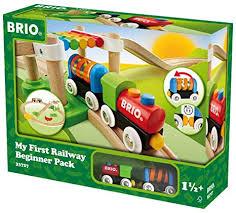brio my first railway beginner pack wooden toy train set made with european beech wood