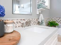 how to install a tile border in a bathroom