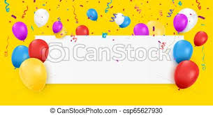Blank Birthday Banner Blank Banner With Balloons